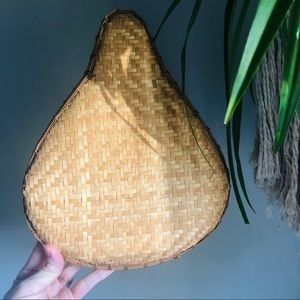 Rattan Wicker Basket Wall Decor Pear Bicycle Seat
